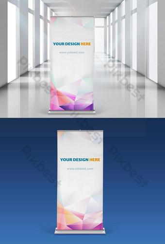 Mở banner quảng cáo standee đẹp Mockup Bản mẫu PSD