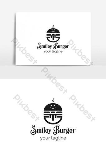 logotipo de restaurante de café de hamburguesa logotipo de hamburguesa plantilla de logotipo de comida Elementos graficos Modelo AI