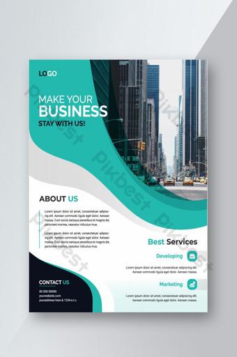 Creative Corporate Business Flyer Design modèle arrière-plan mise en page modèles de fête Modèle AI