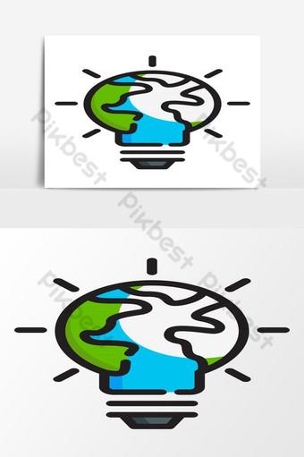 logo ide lingkungan logo informasi lingkungan logo informasi geografis Elemen Grafis Templat EPS