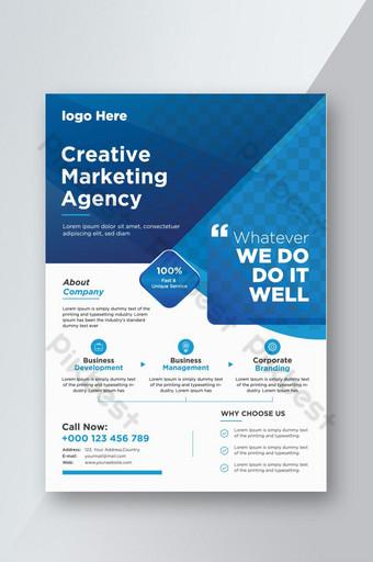 Modèle de flyer d'entreprise créative Meilleures images de flyer d'entreprise en 2020 co Modèle EPS