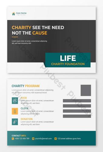 Conception de modèle de carte postale de charité Modèle AI