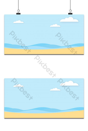 Abstract the sea at dawn clear blue sky with sun background. Backgrounds Template PSD