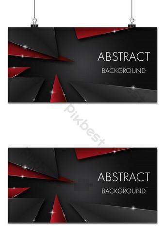 Fondo abstracto triángulo rojo y gris oscuro con trazo plateado y efecto de brillo Fondos Modelo EPS