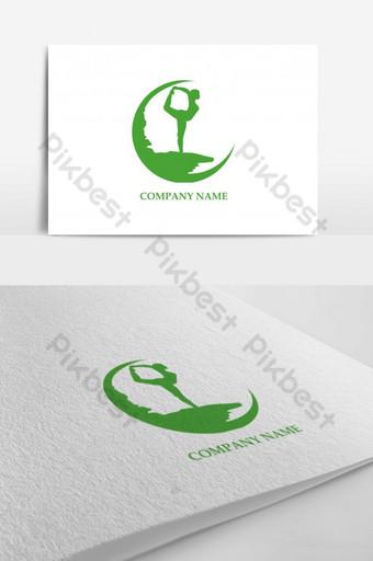 plantilla de diseño de logotipo de fitness yoga Modelo AI