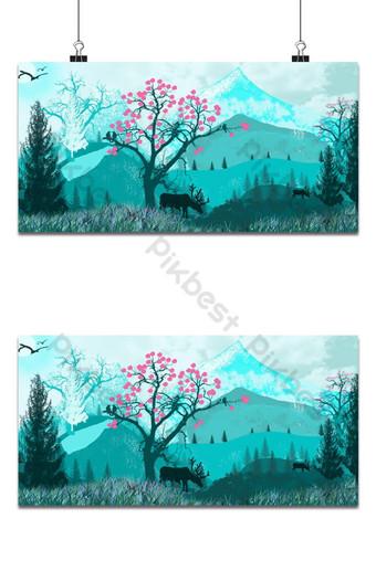 conception de papier peint de paysage simple dans Photoshop Fond Modèle PSD