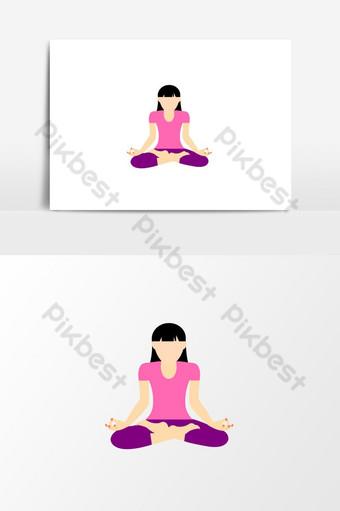 elemento gráfico de vector de chica de yoga Elementos graficos Modelo AI