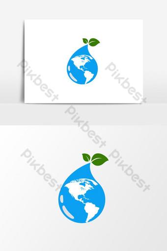 el mundo hacia el logo verde Elementos graficos Modelo AI