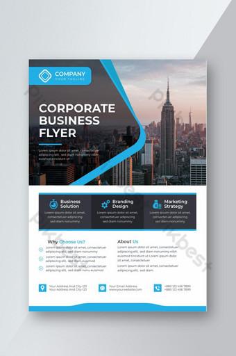 Conception de modèle de flyer créatif professionnel bleu Modèle EPS