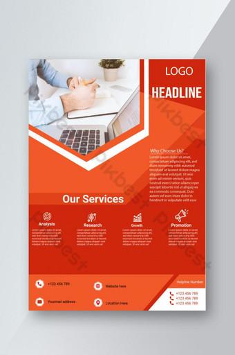 folleto corporativo profesional para promoción empresarial diseño único. Modelo EPS