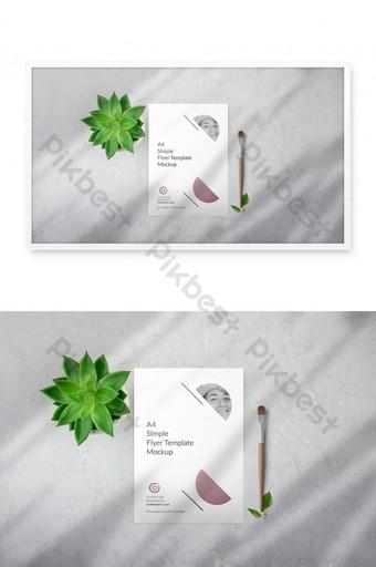 tải xuống miễn phí psd flyer mockup Bản mẫu PSD