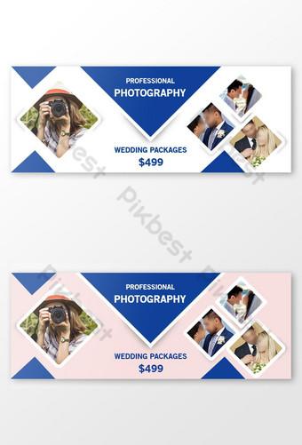desain template fotografi tata letak sampul facebook Templat PSD