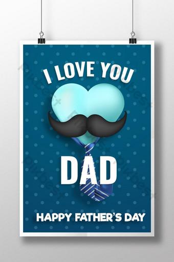 día del padre realista con diseño de cartel en forma de corazón Modelo AI