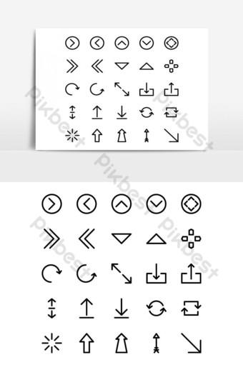 elemento gráfico de vector de paquete de iconos de flecha Elementos graficos Modelo EPS