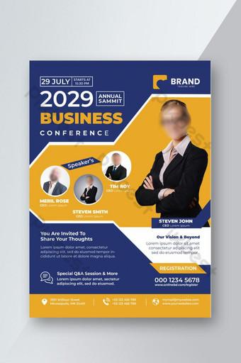 Modèle de Flyer de conférence commerciale Modèle PSD