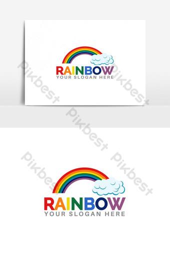 arcoiris con diseño de logotipo de cielo Elementos graficos Modelo AI