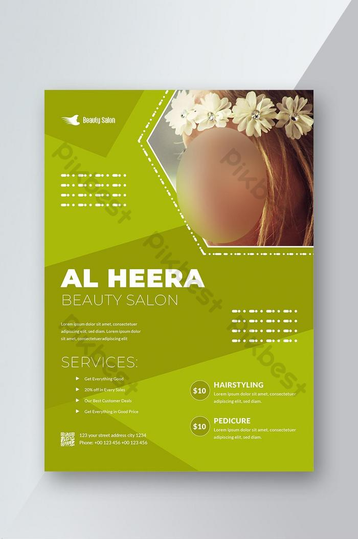 Green Spa Beauty Salon Flyer Templates Ai Free Download Pikbest