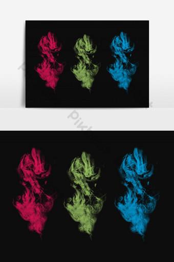 efecto de humo colorido aislado Elementos graficos Modelo PSD