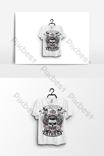 Diseño de camiseta de jinete y plantilla de diseño de vector de cartel Elementos graficos Modelo AI