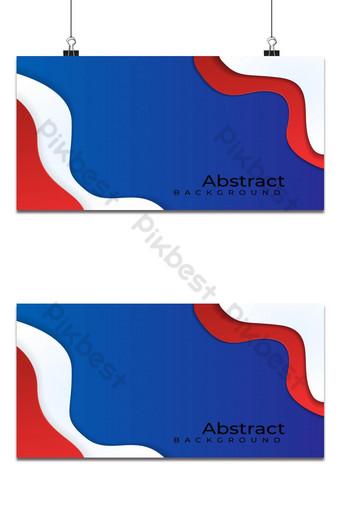 fondo ola en capas rojo blanco azul colores Fondos Modelo EPS