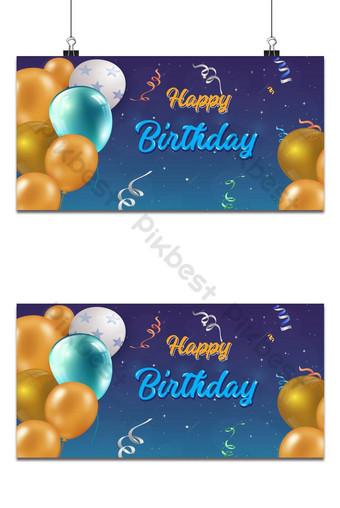 modèle de vecteur de conception de fond fête anniversaire célébration Fond Modèle PSD