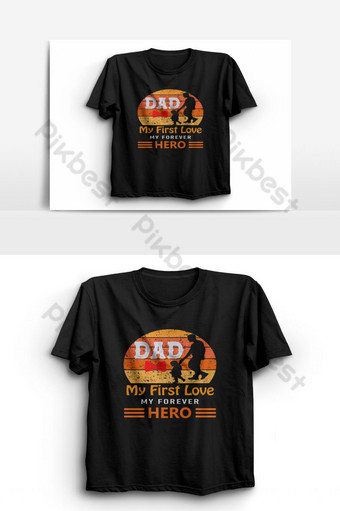 Happy Father's Day T-shirt Templat.Father t shirts design,Vector , T, Typography shirt PNG Images Template EPS