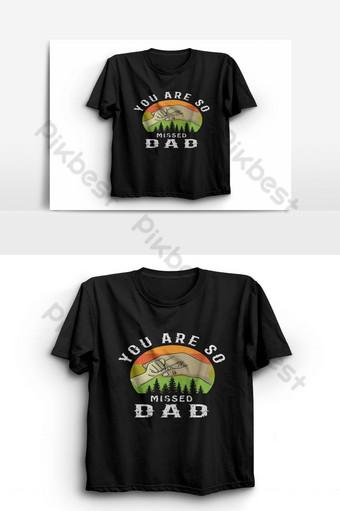 Vous êtes tellement manqué papa fête des pères T-shirt Vector modèle d'affiche typographie graphique Éléments graphiques Modèle EPS