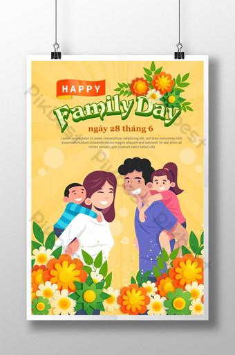 سعيد يوم الأسرة 28 يونيو هدية رائعة لكل منزل قالب AI