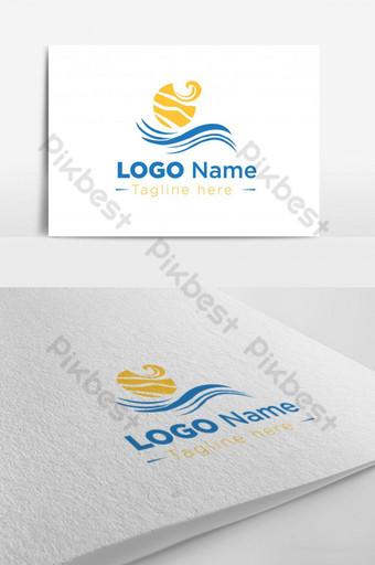 nuevo y moderno diseño de logotipo de playa creativo Modelo AI