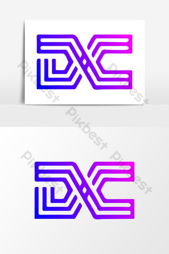 creative dc letter logo design idea elemento gráfico ai Elementos graficos Modelo AI