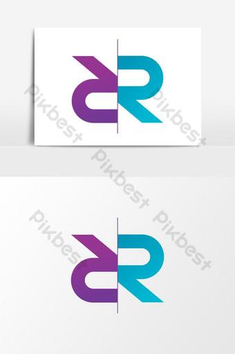 r carta logo idea elemento gráfico plantilla ai eps Elementos graficos Modelo PSD