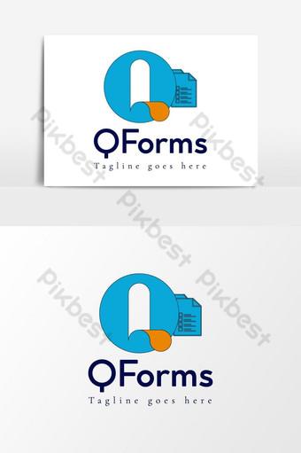 q carta logo idea elemento gráfico plantilla ai eps Elementos graficos Modelo AI