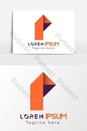 p carta logo idea elemento gráfico plantilla ai eps Elementos graficos Modelo AI