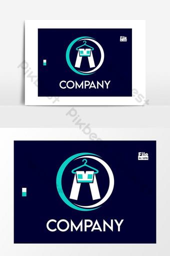 ropa showroom lavandería pantalones moda marcas logo Elementos graficos Modelo EPS