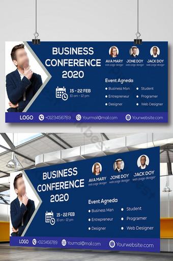 conferencia de negocios 2020 diseño de banner de señalización de vallas publicitarias corporativas Modelo EPS