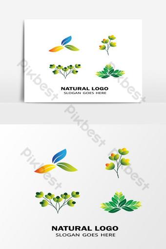 جميل الورقة الخضراء الطبيعية رمز مكافحة ناقلات المفهوم صور PNG قالب AI