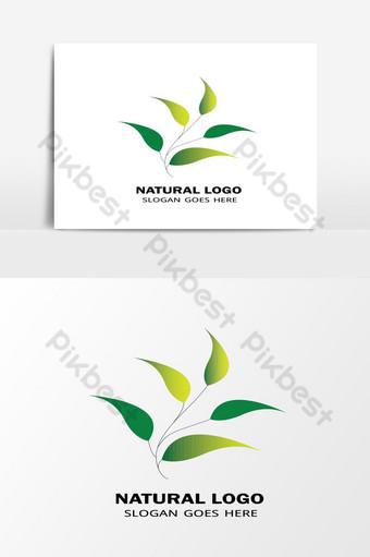أفضل عنصر ناقل الشعار الطبيعي الورقة الخضراء صور PNG قالب AI