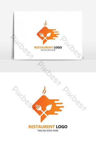 restaurante logo vector cafe logo restaurante retro logo adecuado para empresas de alimentos Elementos graficos Modelo AI