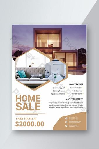 Conception de modèle de flyer vente immobilier maison Modèle PSD