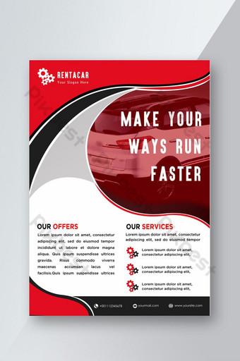 تصميم نشرة إعلانية لتأجير السيارات قالب PSD