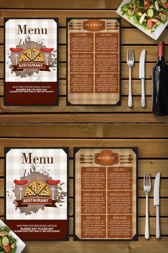 Modèle de menu de nourriture de dîner double face Modèle PSD