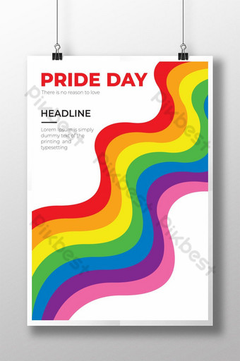 World Pride Day colorful poster vector Template EPS