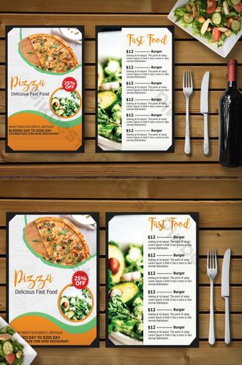 diseño de menú de restaurante de comida rápida Modelo PSD