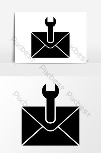 gráficos vectoriales de icono de gestión de correo electrónico Elementos graficos Modelo EPS