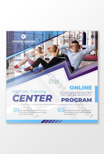 publicación de marketing en redes sociales del centro de fitness virtual Modelo EPS