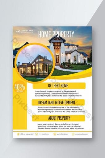 Conception de prospectus de propriété immobilière Modèle AI