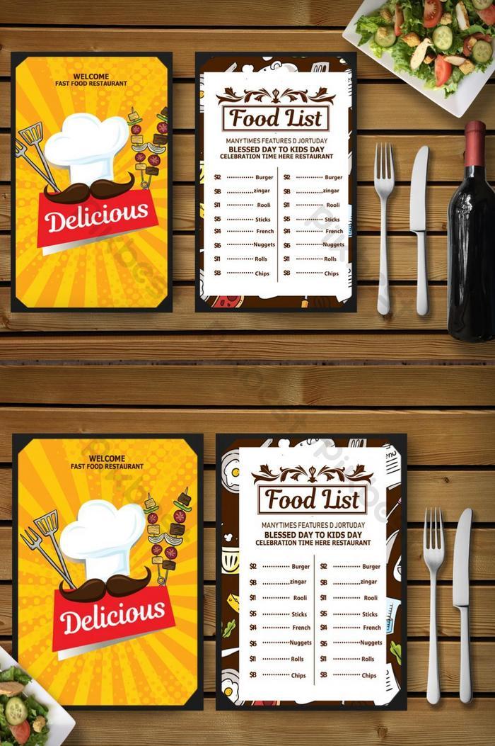 thiết kế menu thức ăn nhanh sáng tạo