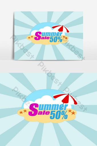 venta de verano diseño de elemento gráfico psd Elementos graficos Modelo PSD