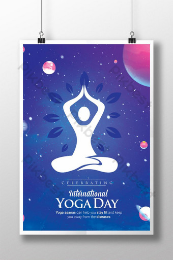 International Yoga Day Poster Template PSD