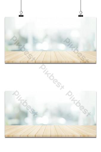 деревянная столешница с размытым фоном стены окна окна Фон шаблон PNG